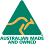 Australian Made and Owned - logo