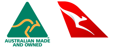 Australian Made and Owned & Qantas - Logo